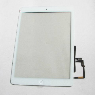 Тачскрин Apple iPad 5 / iPad Air white со стеклом + on /off