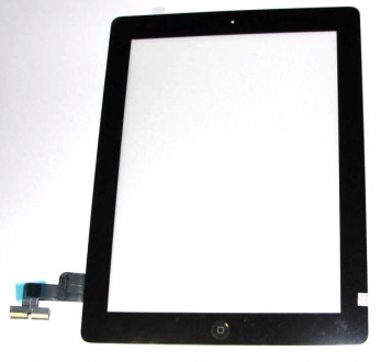 Тачскрин Apple iPad 2 black со стеклом + on /off