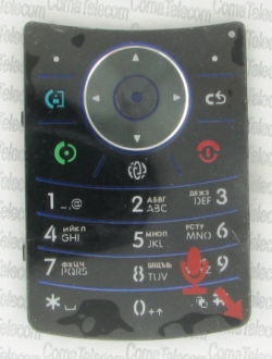 Клавиатура Motorola V9 black-blue + русс.